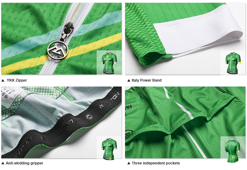 Green cycling jersey