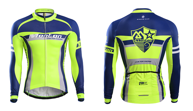 winter fleece cycling jersey