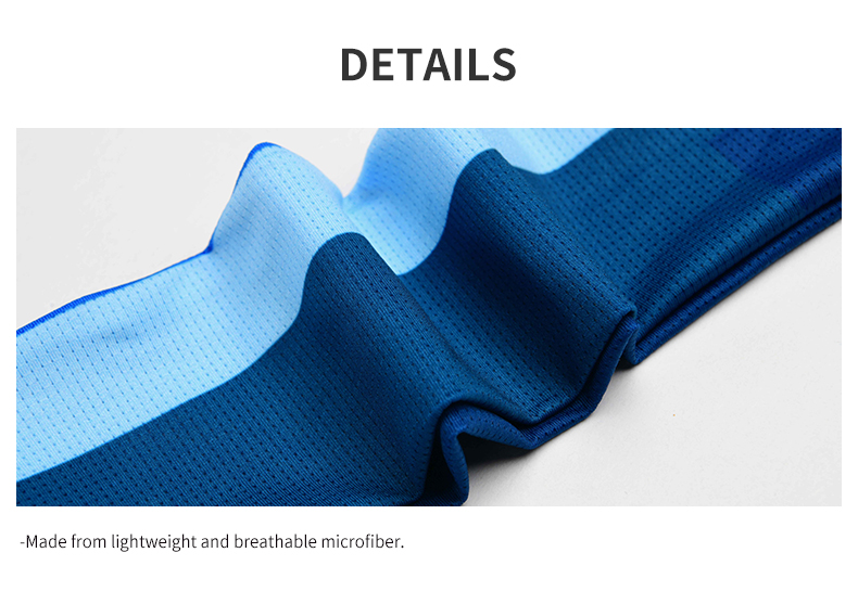 Made from lightweight and breathable microfiber