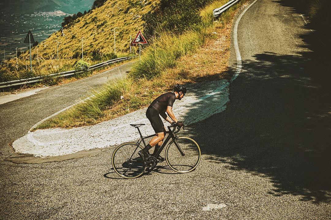 black cycling clothing