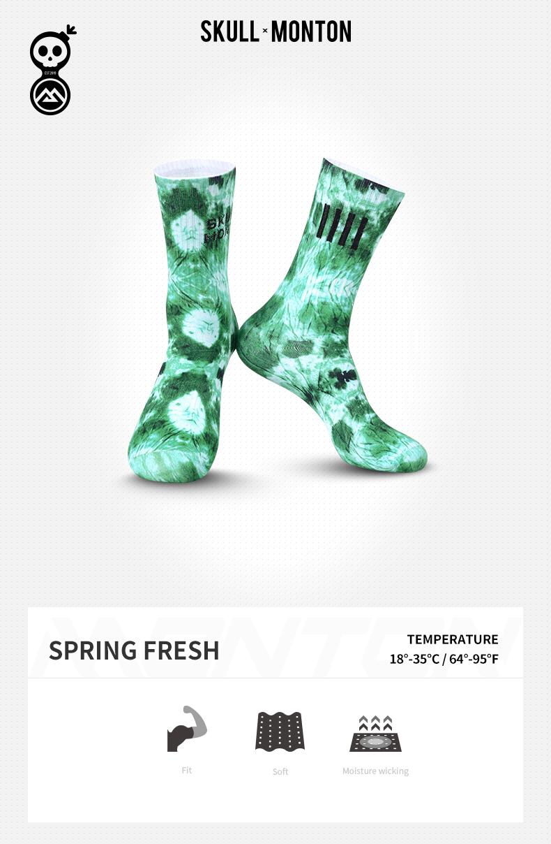 green cycling socks