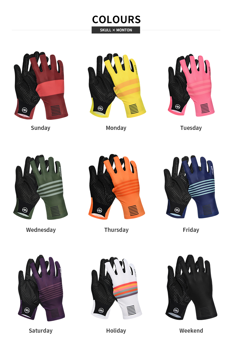 long finger cycling gloves