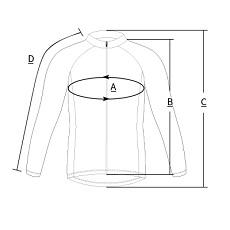 long sleeve cycling jersey size chart