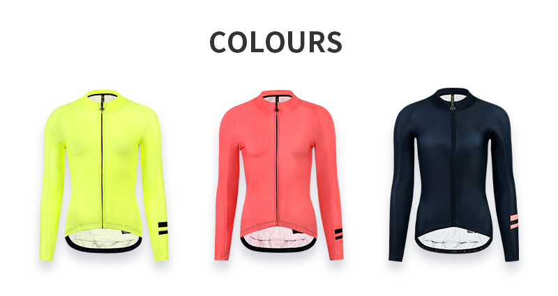 womens thermal cycling jersey yellow