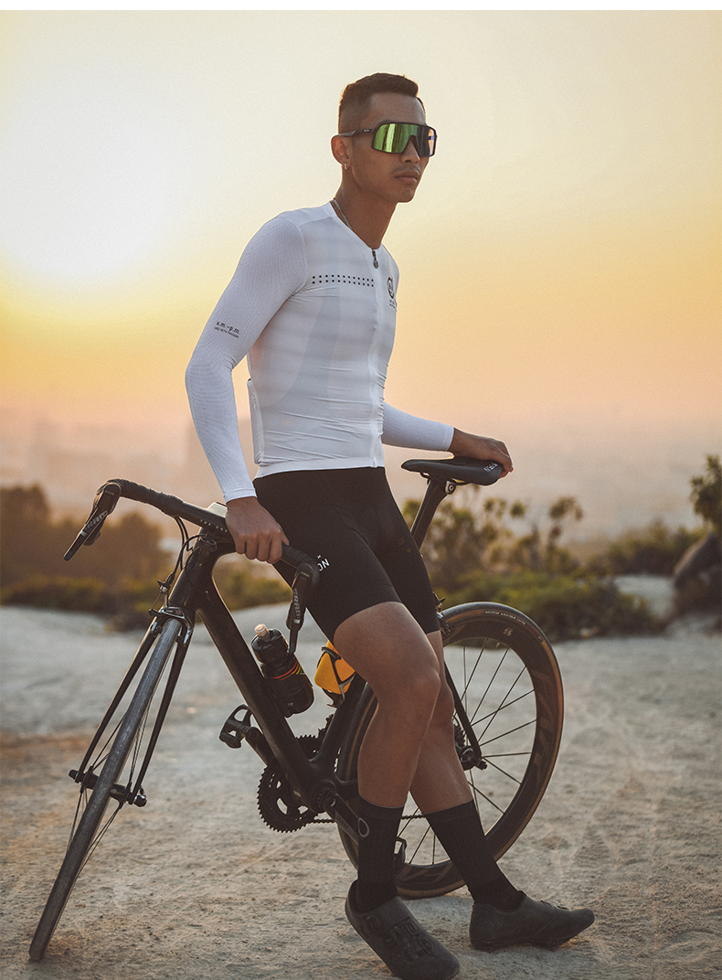 long sleeve cycling jersey sun protection