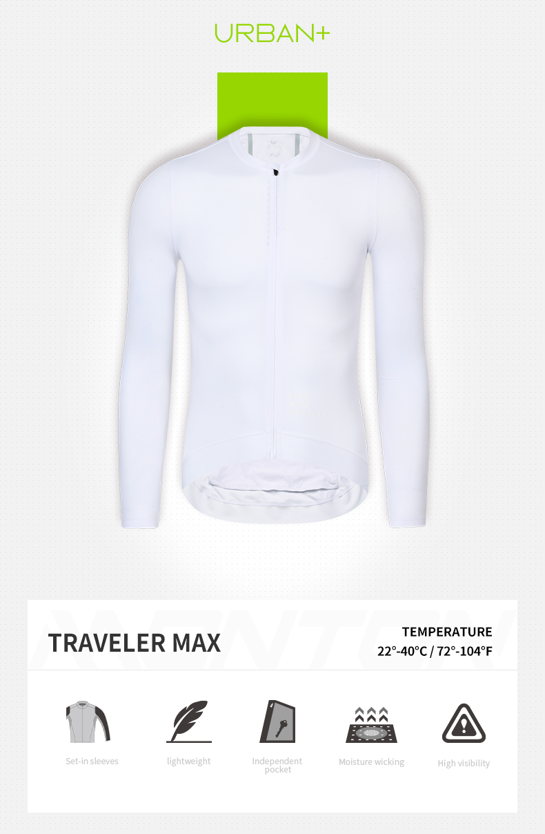 white long sleeve cycling jersey