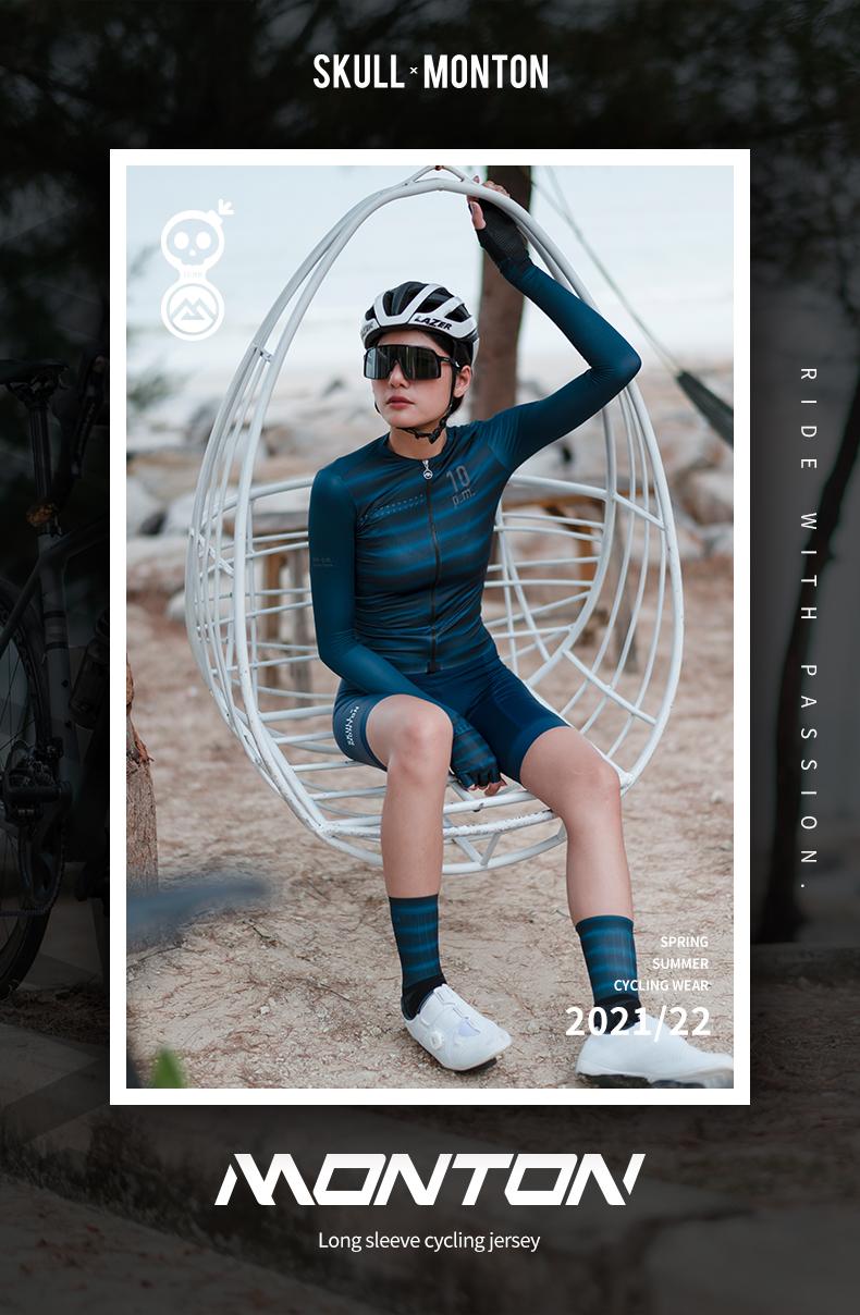 long sleeve womens cycling jersey