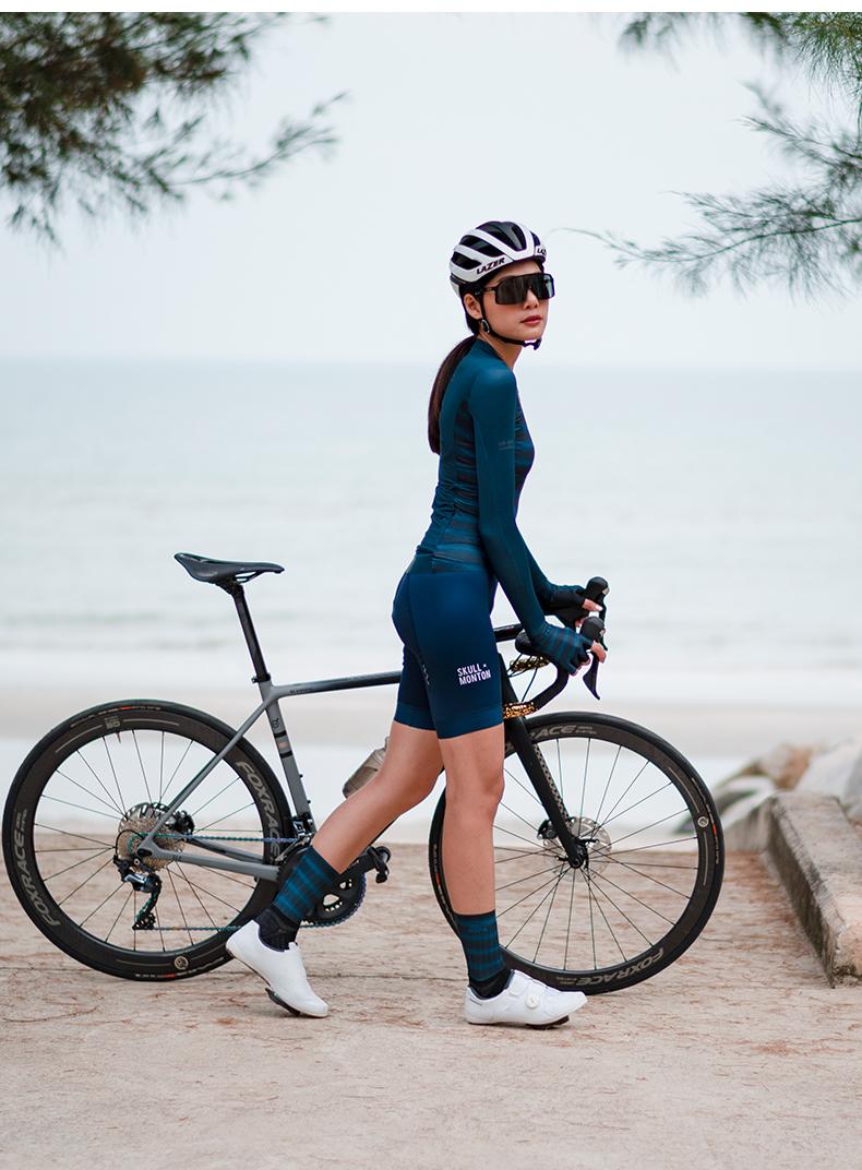 womens long sleeve summer cycling jersey