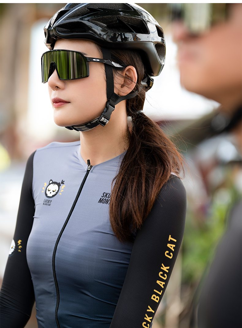 womens long sleeve cycling top