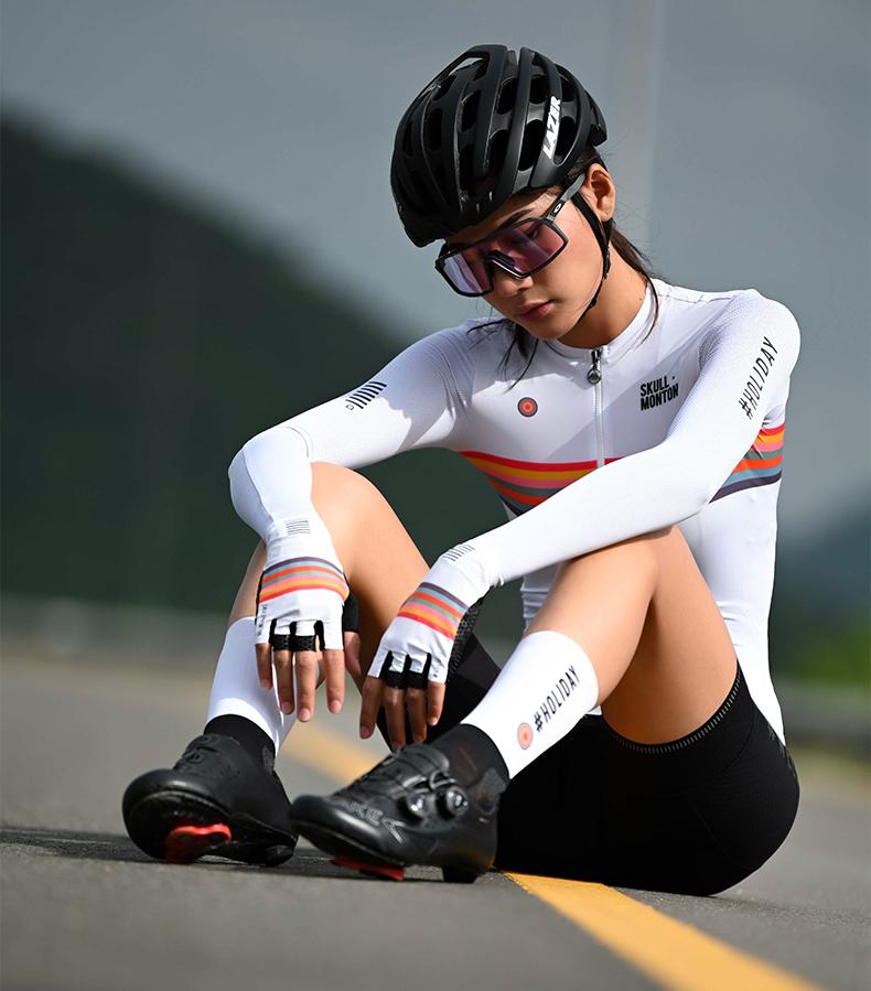 womens long sleeve cycling tops