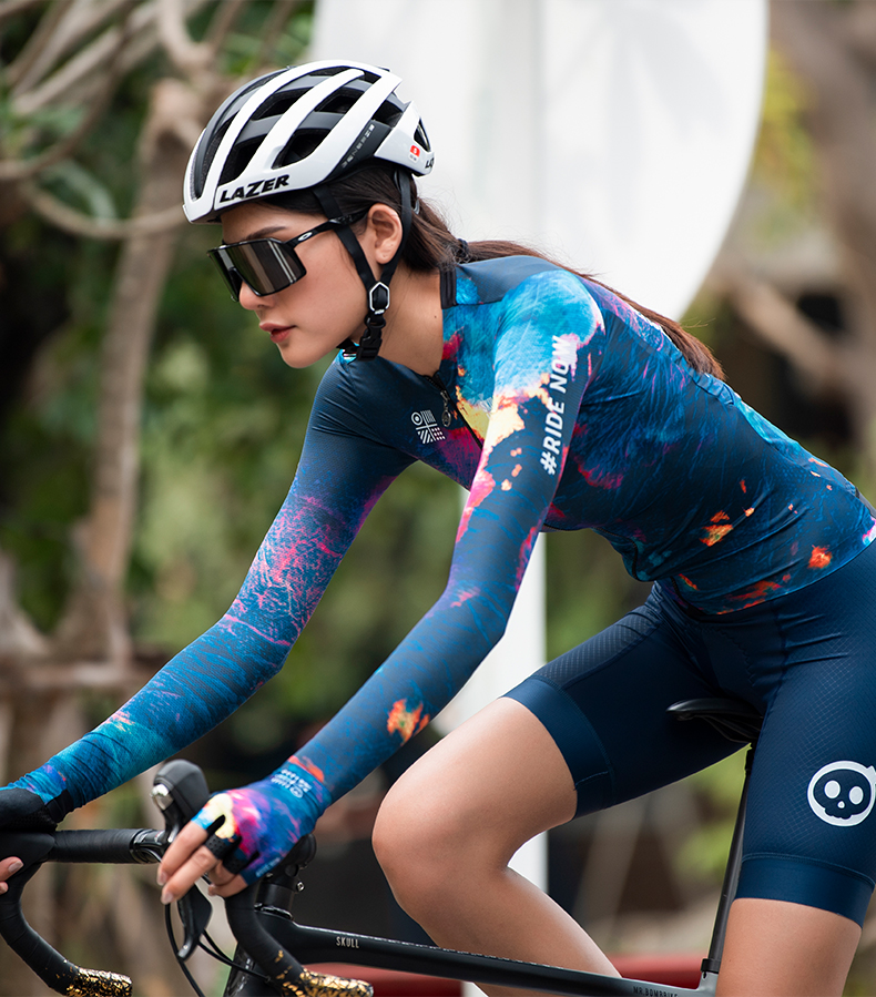 womens lightweight long sleeve cycling jersey