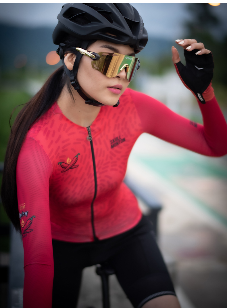 long sleeve cycling jersey for hot weather