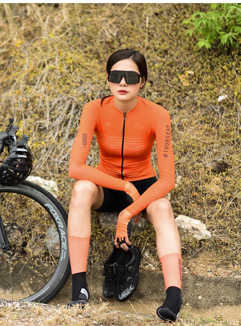 ladies cycling long sleeve jerseys