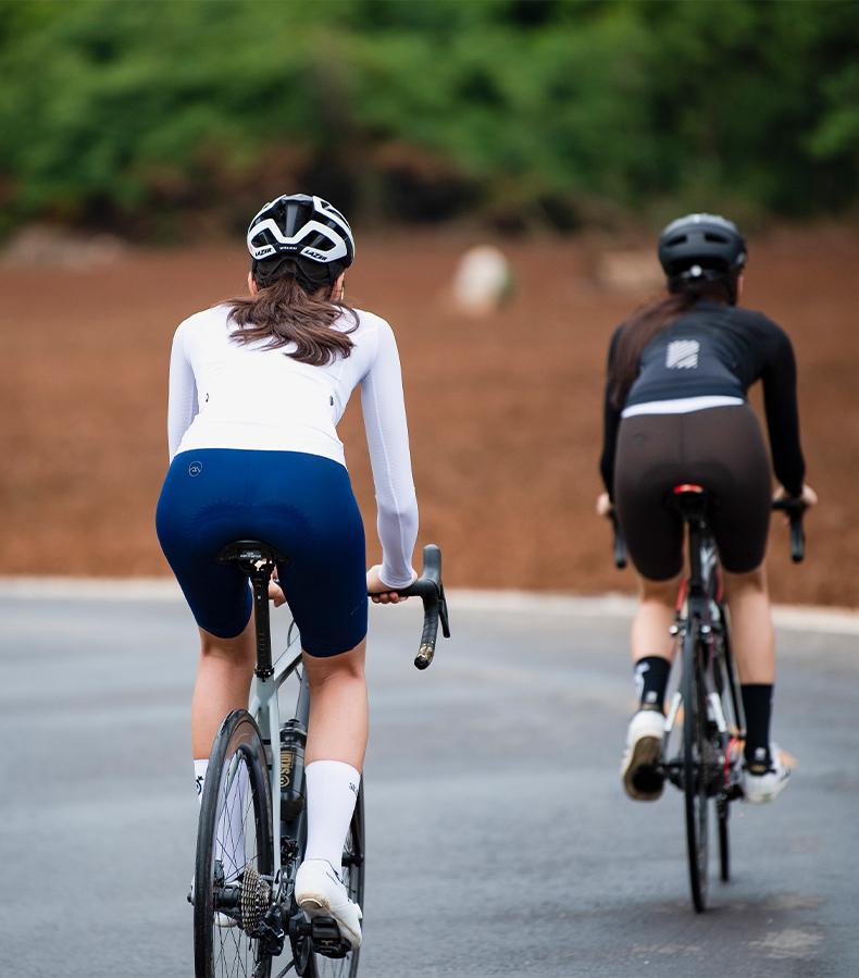 womens long sleeve cycling jersey