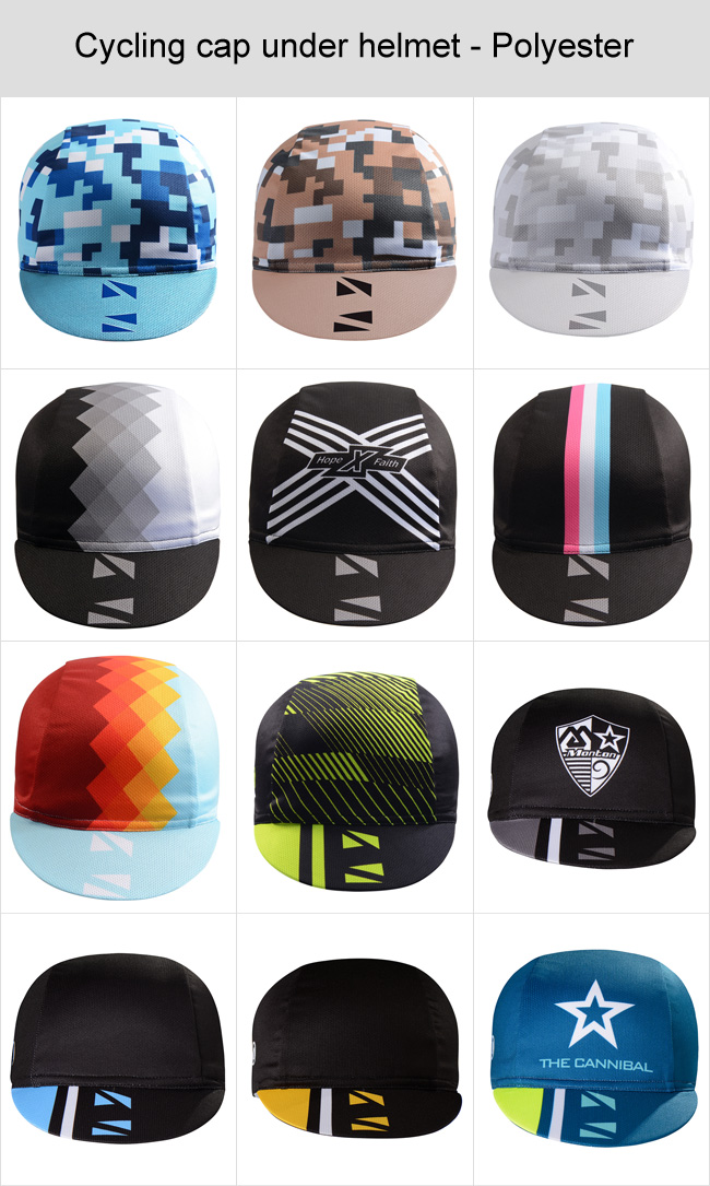 cycling hat under helmet- Polyester fabric