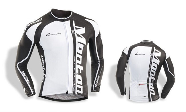 32d2fda07 2014 Mens Summer Long Sleeve Cycle Jersey Orcinus Orca Black White on model