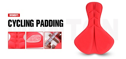 Professional female cycling pad