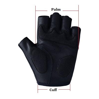cycling gloves size