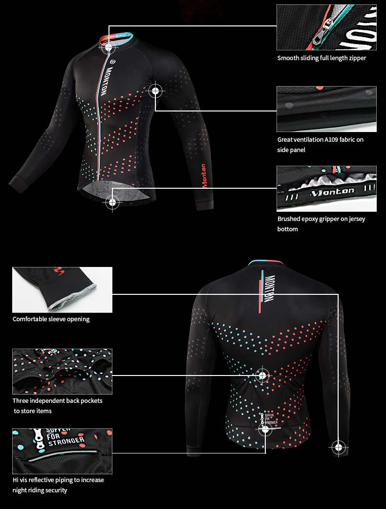 Sun Protection Long Sleeve Cycling Jersey