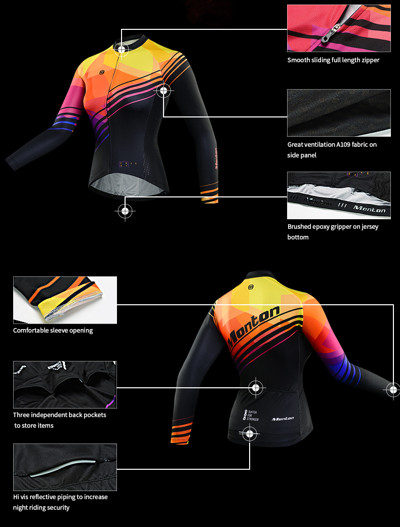 Women's Cycling Jersey Long Sleeve