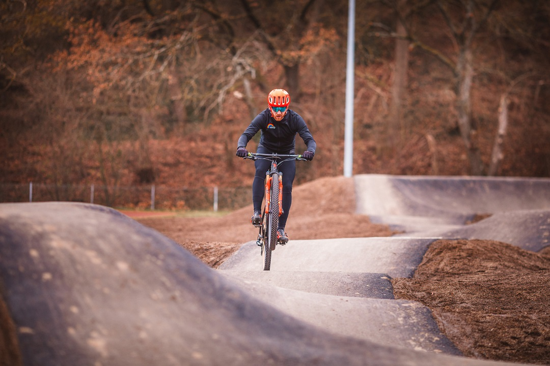 black cycling jacket