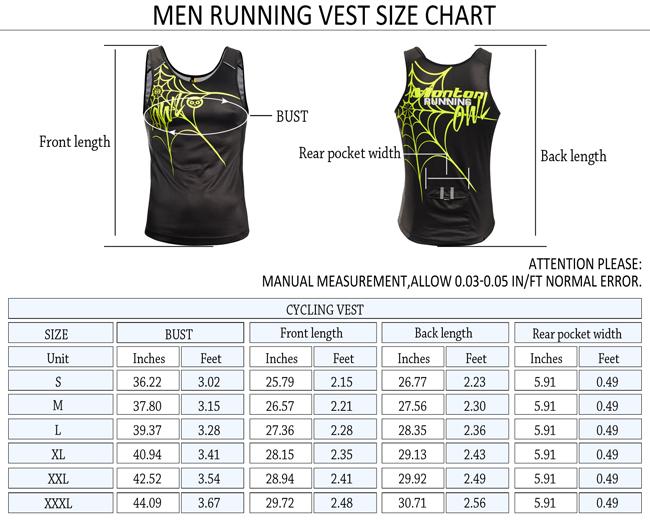 Running Singlet Size Chart