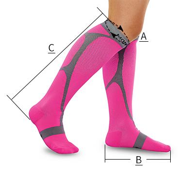 running socks size chart