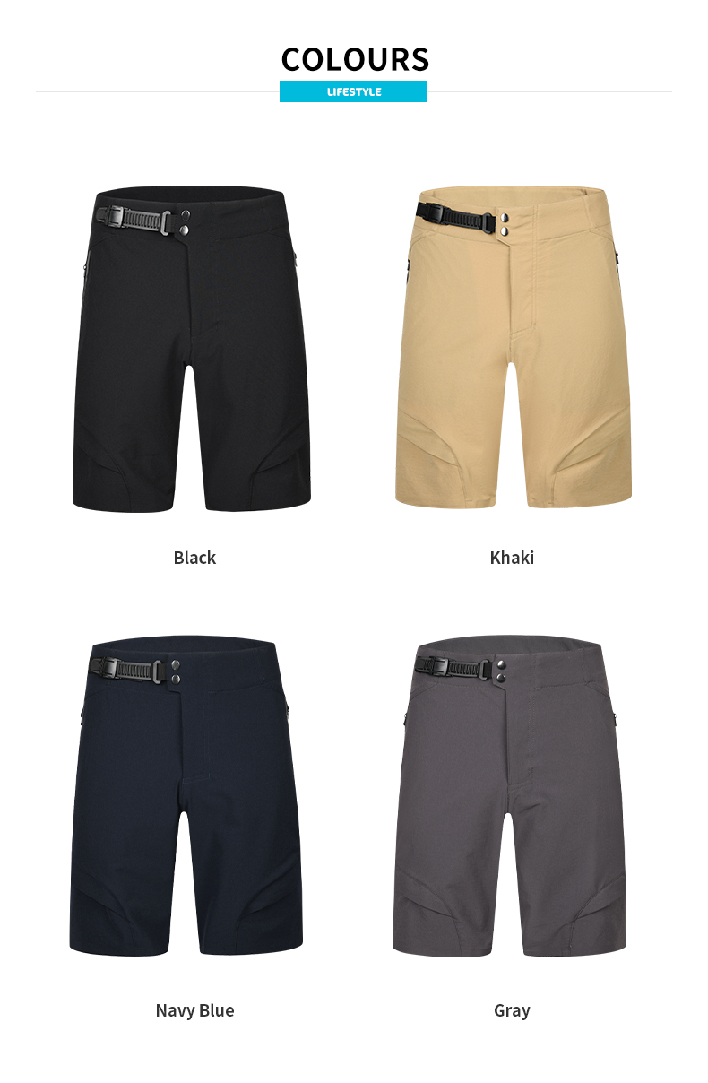 mtb baggy shorts with liner