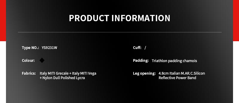 Tri Suit Custom Template YS9231W