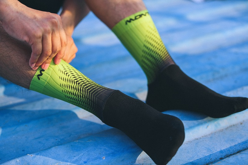 fluro yellow cycling socks