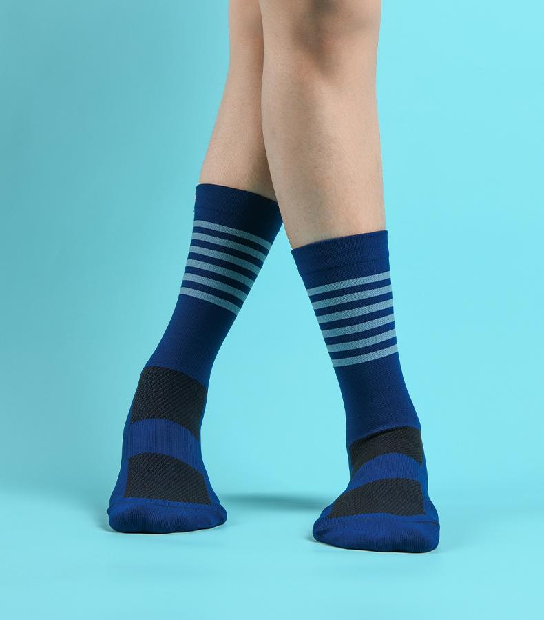 navy blue cycling socks