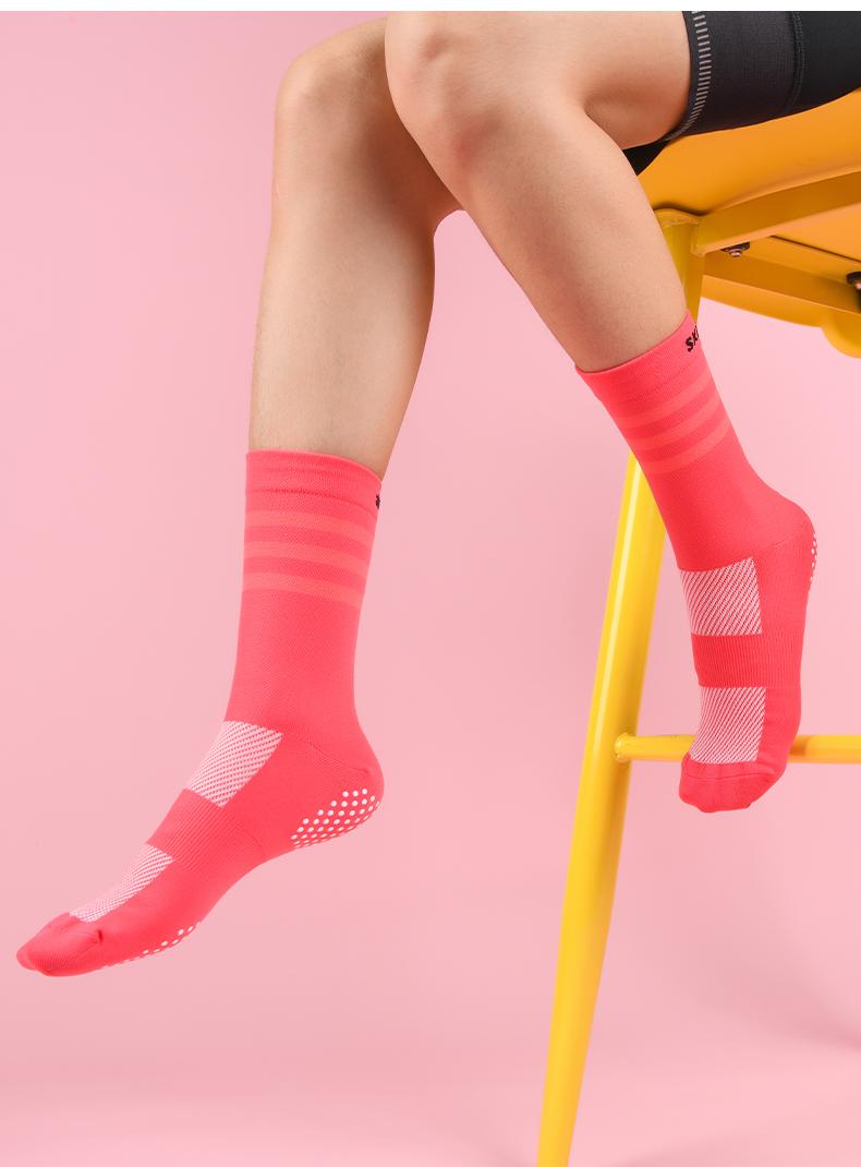 PINK SPORTS MEN //WOMEN BIKE CYCLING SOCKS SIZE 39 to 45 Long