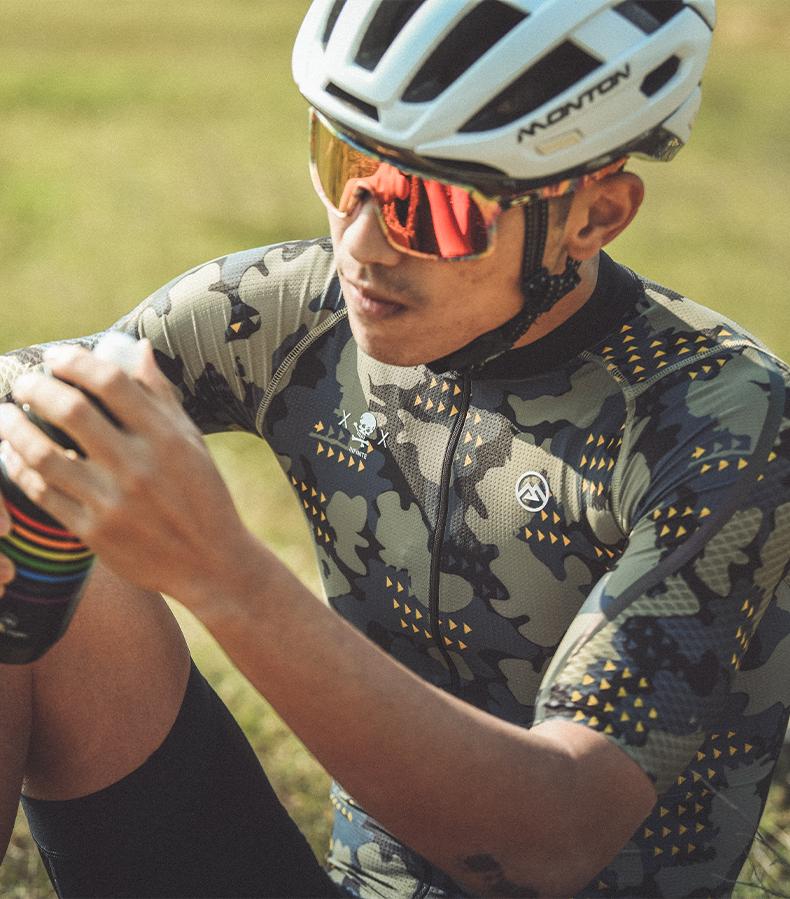 camo cycling kit