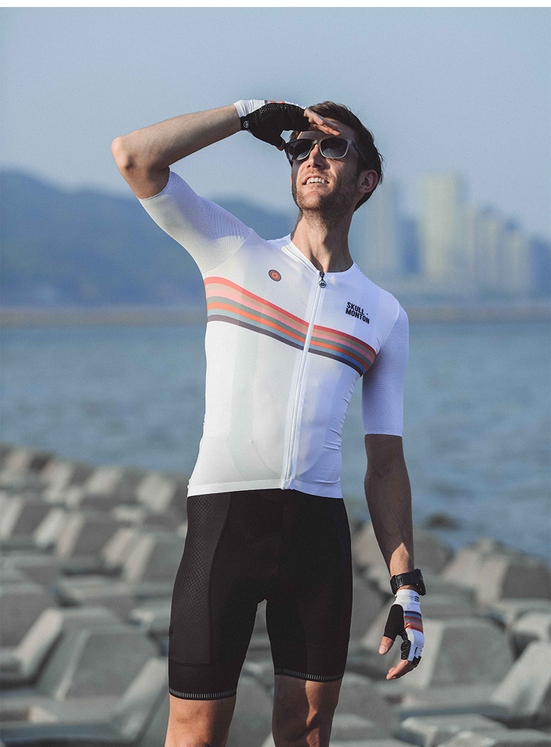 white mens cycling jersey