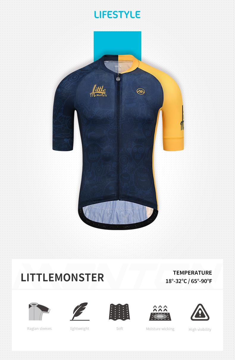 blue yellow cycling jersey