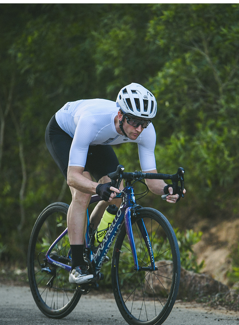 white cycle jersey