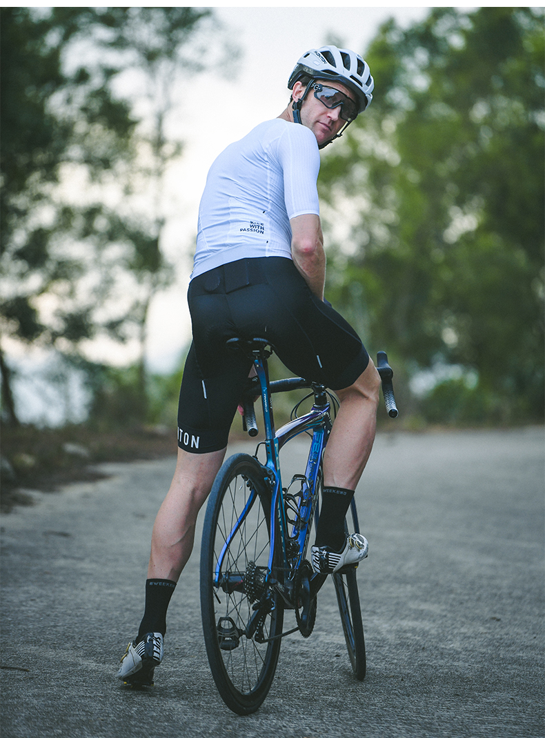 white cycling jerseys