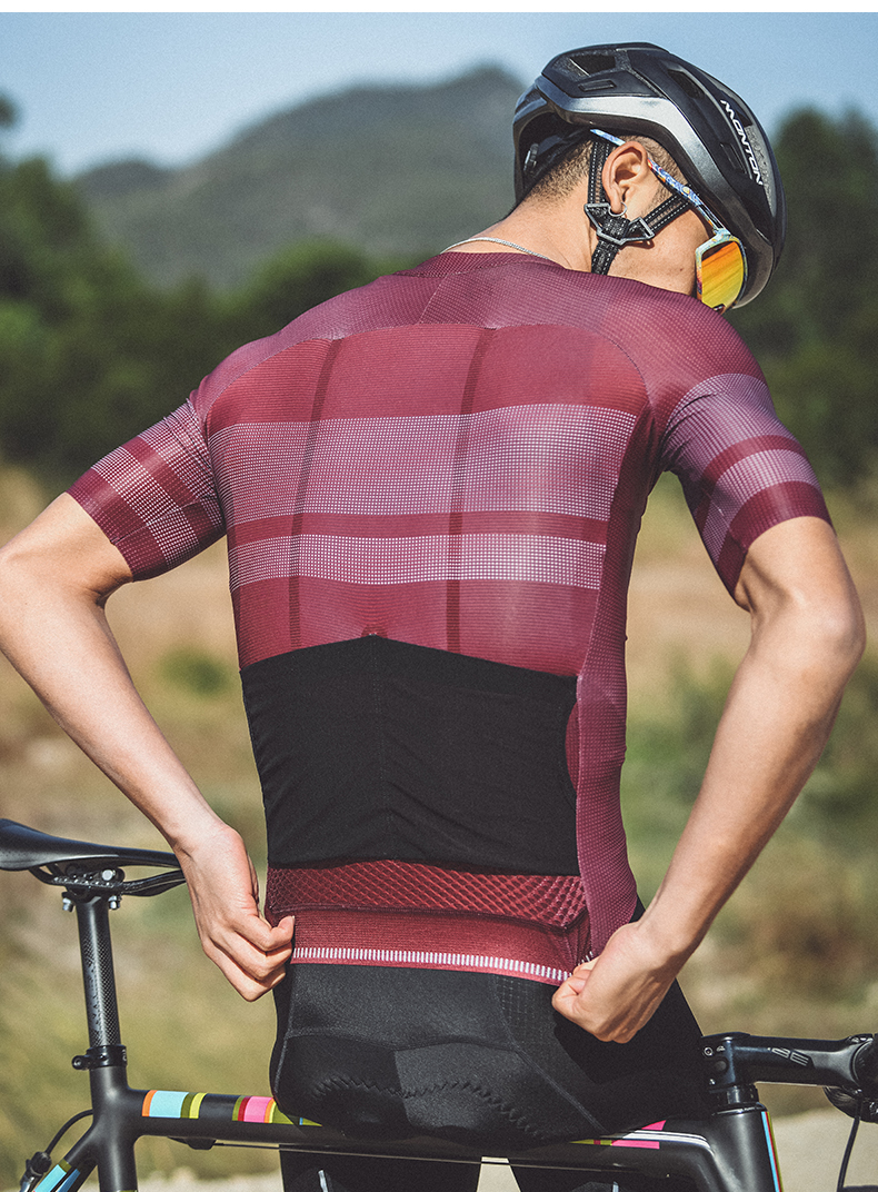 red black cycling jersey