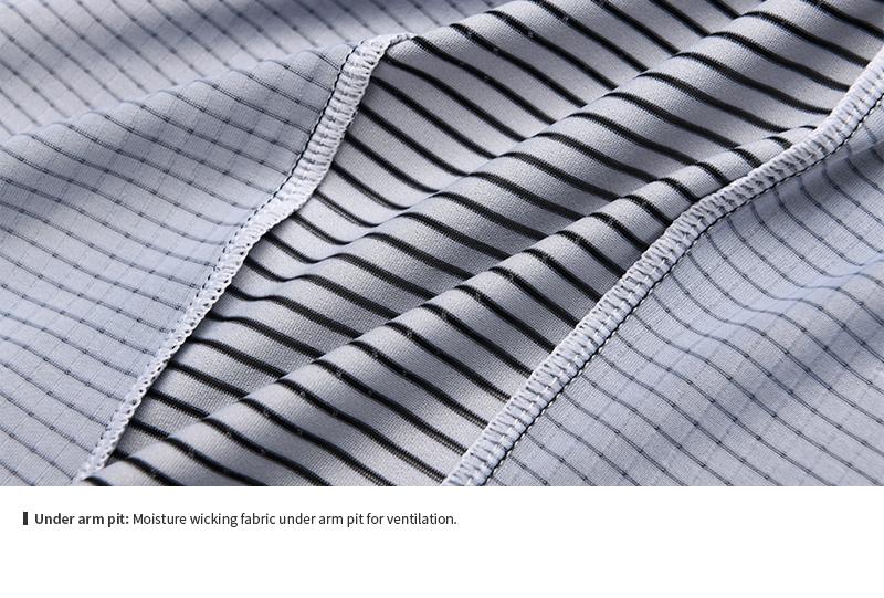 moisture wicking fabric under arm pit