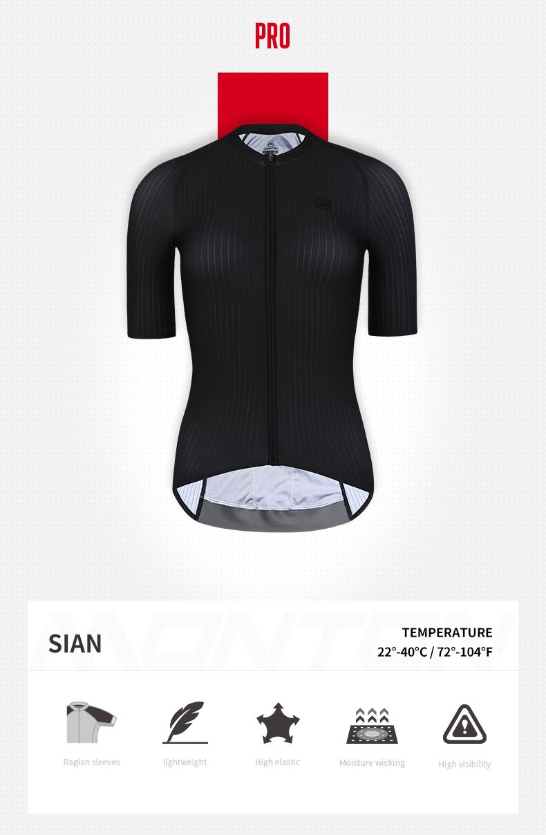 black cycling jersey womens
