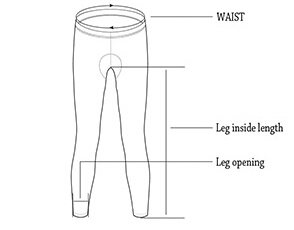 cycling tights size chart