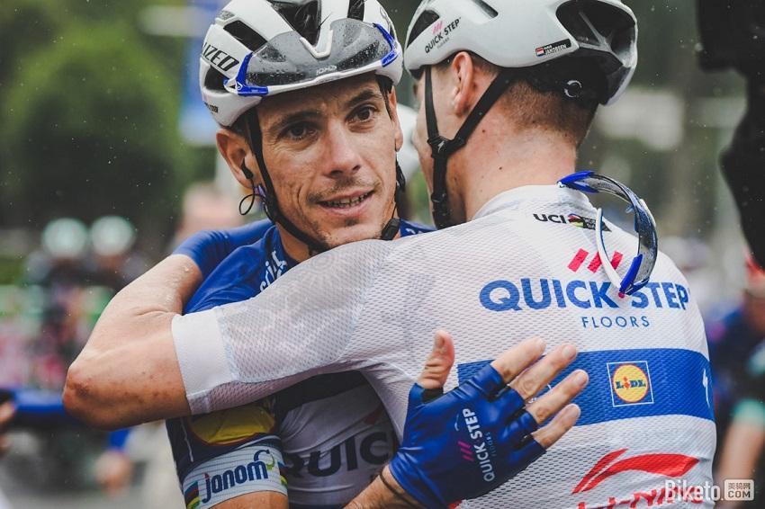 GILBERT Philippe hug Fabio Jakobsen tour of guangxi 2018 stage 3 nanning