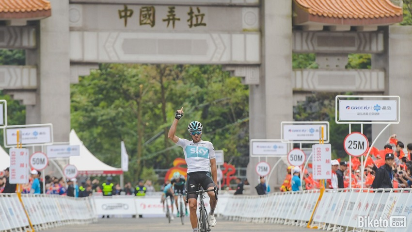 Gianni Moscon (Team Sky) wins stage 4 tour of guangxi 2018