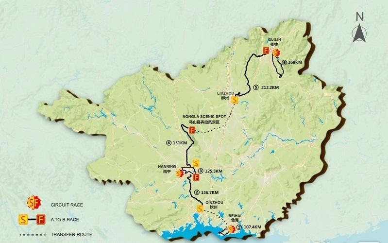 tour of guangxi racing map
