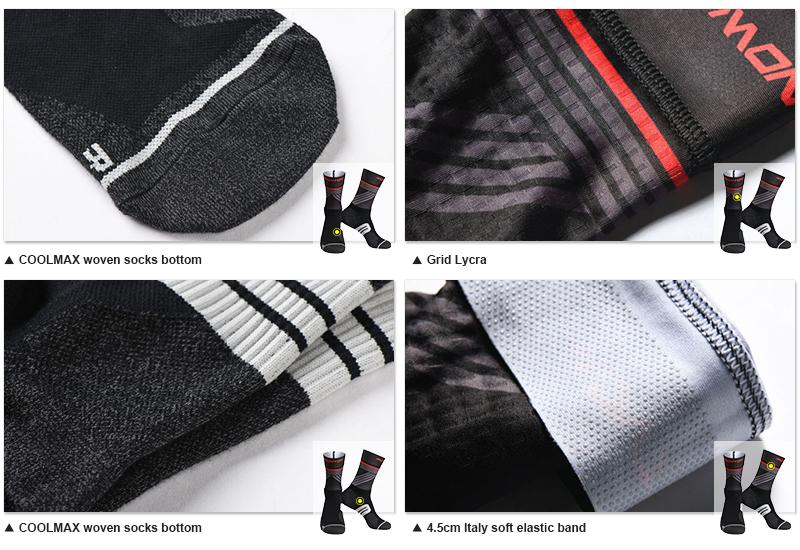 striped cycling socks fabric