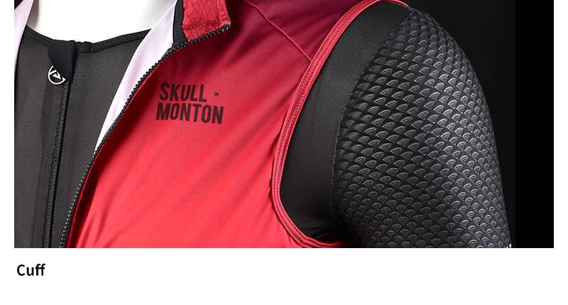 cycling wind vest full zip