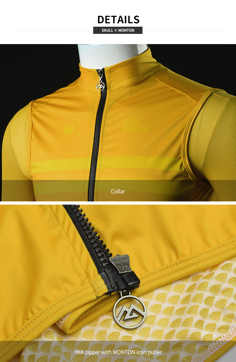 windproof fabric on front panel