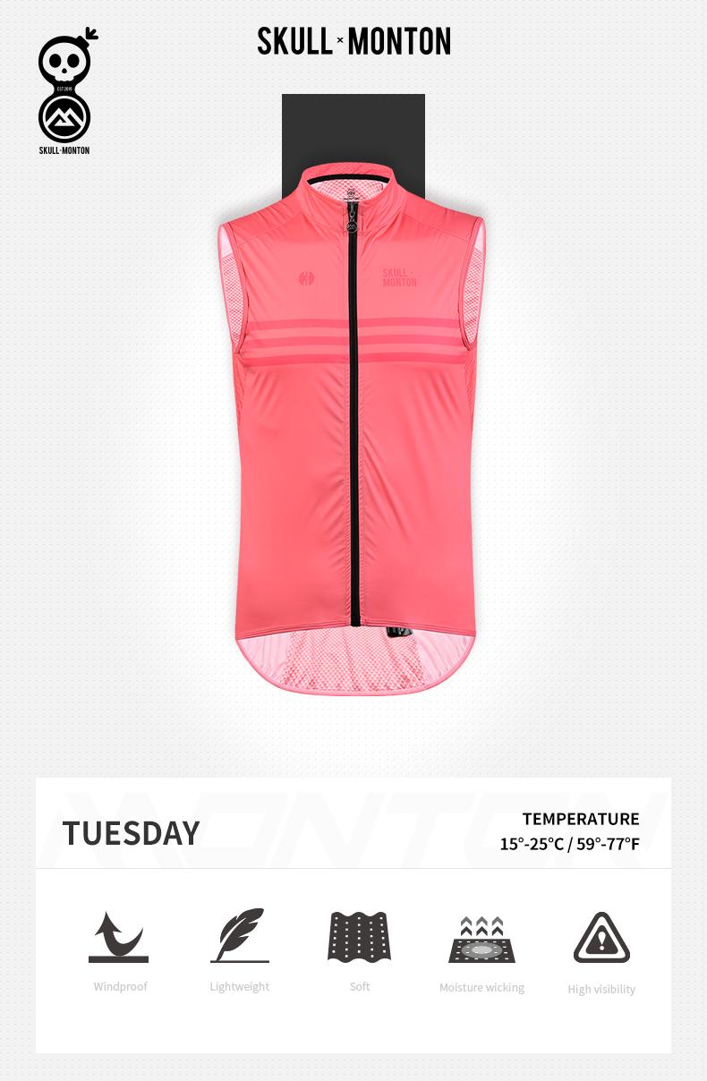 cycling windbreaker vest