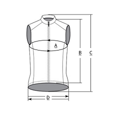 cycling vest size chart