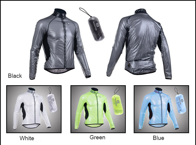 Waterproof Cycling Jacket Windbreaker Four colors (Black, White, Green, Blue)